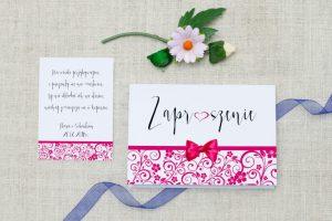 zdjęcie ślubnego zaproszenia