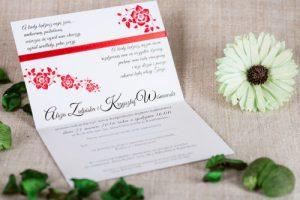 zdjęcie zaproszenia pudrowy róż